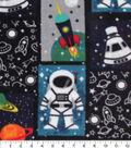 Anti-Pill Plush Fleece Fabric-Space Patchwork