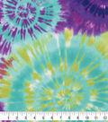 Anti-Pill Plush Fleece Fabric-Blue Green Tie Dye