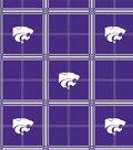 Kansas State University Wildcats Flannel Fabric 42\u0022-Plaid