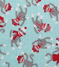 Novelty Cotton Fabric-Classic Sock Monkeys