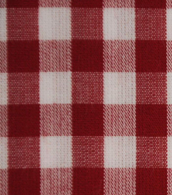 Cotton Shirting Fabric 42''-Red & White Little Gingham