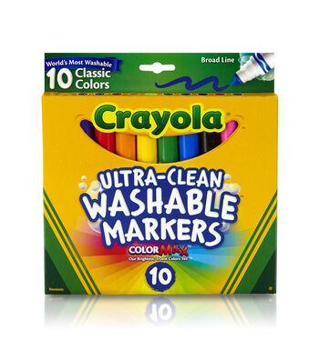 Crayola Classic Washable Bold Markers 10/Pkg