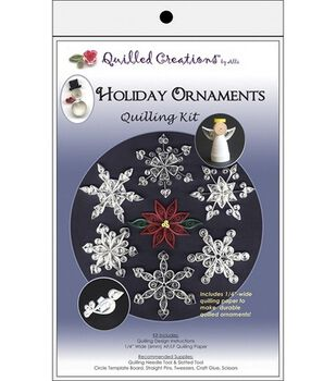 Quilled Creations Holiday Ornaments Quilling Kit