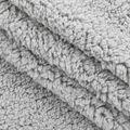 Fashion Faux Fur Fabric -Lt Grey Sherpa