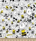 Peanuts Cotton Fabric 43\u0022-Charlie Brown