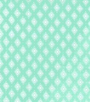 Wide Flannel Fabric -Diamonds on Mint