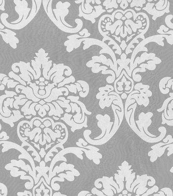 """Waverly Sheer Fabric 54""""-Damask Burnout Sheer"""