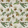 Christmas Cotton Fabric-Pinecone Allover Glitter