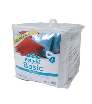 Poly-Fil Basic 16''x16'' Pillow Inserts Value Pack