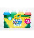 Crayola 4 pk 8 fl. oz. Washable Color Glue Bottles-Multi