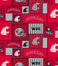 Washington State Cougars Fleece Fabric-College Patch