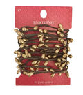 Blooming Holiday Christmas 9\u0027 Berry Roping Garland-Champagne