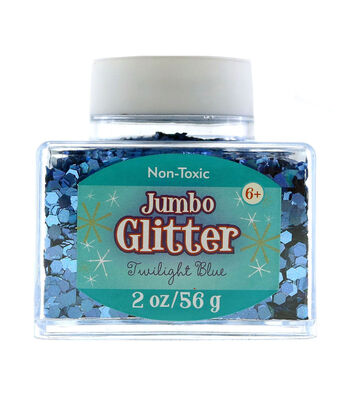 Stackable 2oz Jumbo Glitter-Twilight Blue