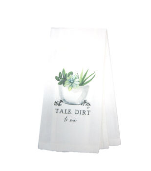 Simply Spring 9.5''x4.5'' Towel-Talk Dirt to Me
