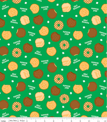 """Girl Scout Cotton Fabric 43""""-Cookies"""