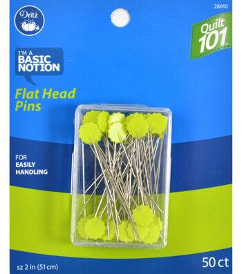 Dritz Quilt 101 Flat Head Pins 50pcs