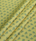 Silky Stretch Crepe Fabric 57\u0022-Yellow Ditsy Floral