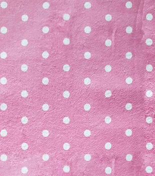 Super Snuggle Flannel Fabric-Pink Dots Carnation