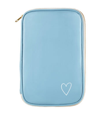 Webster's Pages Color Crush Craftmate Leather Folio-Slate Blue