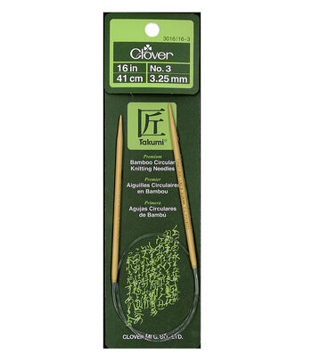 "Takumi Bamboo Circular Knitting Needles 16""-Size 3/3.25mm"