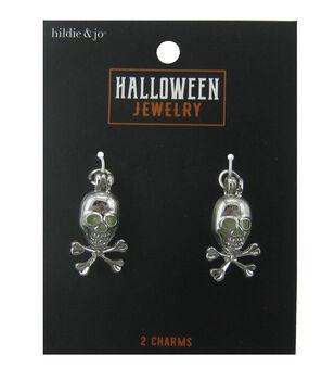 hildie & jo Halloween Charms-Skull Silver