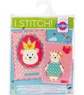Vervaco I Stitch! Kits 4 Kids Embroidery Cards Kit-Bear Crown & Balloon