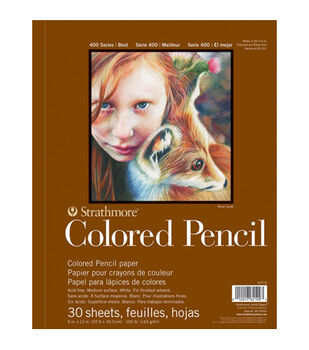 """Strathmore Colored Pencil Spiral Paper Pad 9""""X12""""-30 Sheets"""