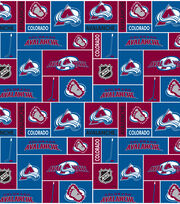 Colorado Avalanche Cotton Fabric -Black, , hi-res