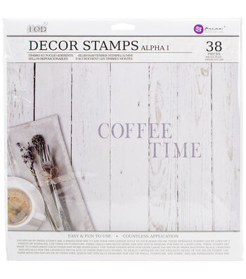 Prima Marketing Iron Orchid Designs 12''x12'' Decor Stamps-Alpha I