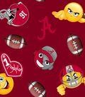 University of Alabama Crimson Tide Fleece Fabric 60\u0022-Emoji