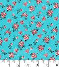 Keepsake Calico Cotton Fabric-Ditsy Floral Blue