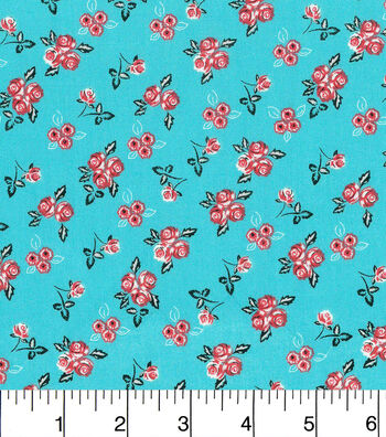 Keepsake Calico Cotton Fabric-Ditsy Floral Blue