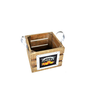 Blooming Autumn Small Crate Planter-Market
