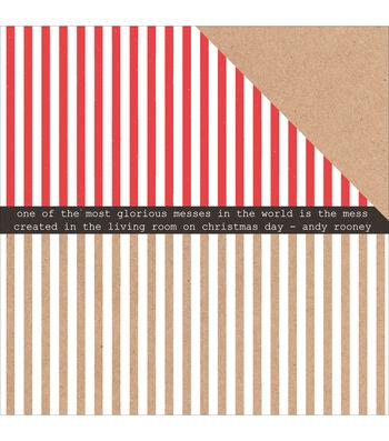 Kaisercraft Holly Jolly Double-Sided Cardstock-Zingy
