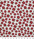 Christmas Cotton Fabric 43\u0022-Poinsettias On Scrolls