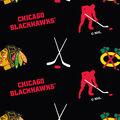 Chicago Blackhawks Fleece Fabric -Tossed