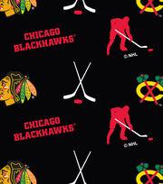 Chicago Blackhawks Fleece Fabric -Tossed, , hi-res