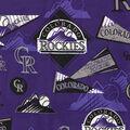 Colorado Rockies Cotton Fabric-Vintage
