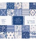 Papermania Capsule Parisienne Blue Paper Pack 12\u0022x12\u0022