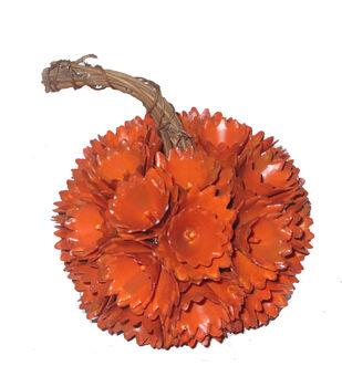 Simply Autumn Extra Small Plastic Woodchip Pumpkin-Orange