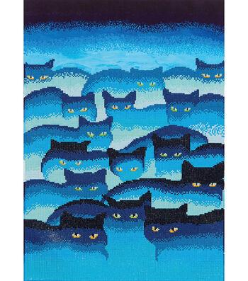 """Diamond Embroidery Facet Art Kit 31.5""""X25""""-Smokey Mountain Cats"""