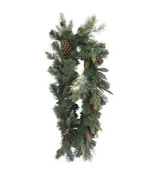 Handmade Holiday Christmas 66'' Mixed Greenery Garland