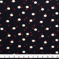 Rayon & Spandex Printed Knit Fabric Red & White Dots on Navy