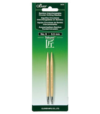 Clover Takumi Interchangeable Circular Knitting Needles Size 9/5.5mm