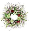 Fresh Picked Spring 24\u0027\u0027 Zinnia, Wildflower & Twig Wreath