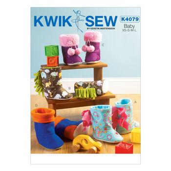 Kwik Sew Pattern K4079 Toddlers' Bootie Slippers-Size XS-L