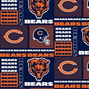 Chicago Bears Cotton Fabric -Patch, , hi-res