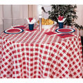 Creative Converting 82\u0027\u0027 Plastic Round Table Cover-Red Gingham