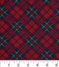 3 Yard Pre-Cut Snuggle Flannel Fabric -Black Red Green Plaid