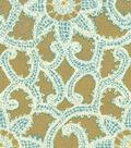 HGTV Home Upholstery Fabric 54\u0022-Like Lace Topaz